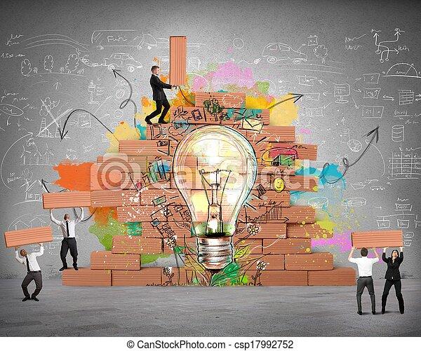 Agrandando una nueva idea creativa - csp17992752