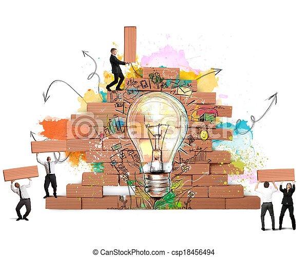 Agrandando una nueva idea creativa - csp18456494