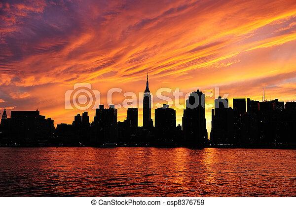 nuevo, ciudad, manhattan, york - csp8376759