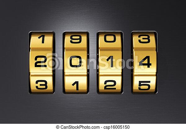 El concepto de Año Nuevo 2014 - csp16005150