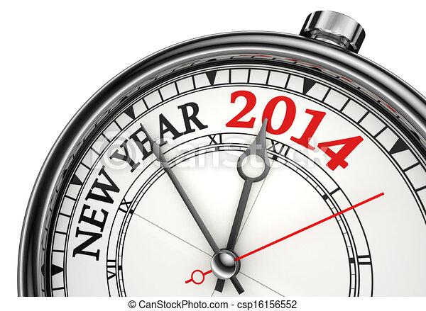 Nuevo año 2014 reloj conceptual - csp16156552