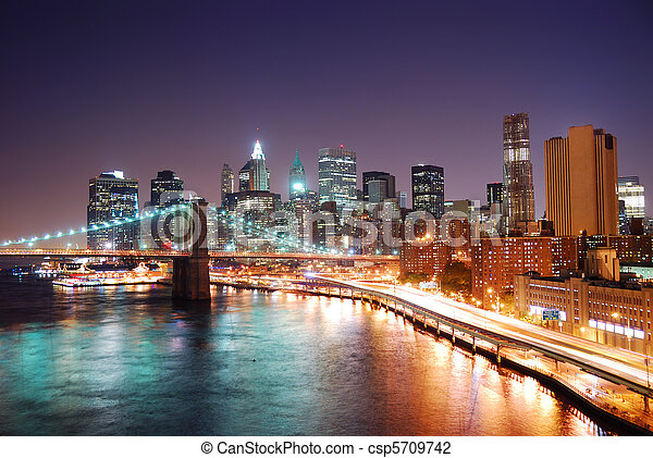 Nueva York, Manhattan Skyline - csp5709742