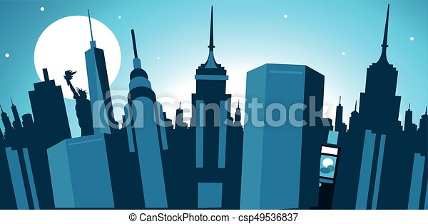 El horizonte de la ciudad de Nueva York - csp49536837