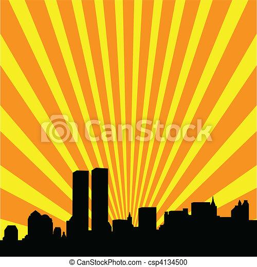 Nueva York Skyline - csp4134500