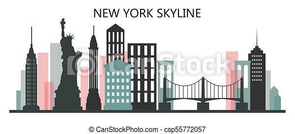 El horizonte de Nueva York - csp55772057