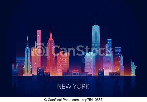 nuevo, contorno, york - csp75410657