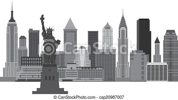 La ilustración de la ciudad de Nueva York - csp20987007
