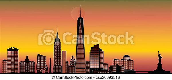 nuevo, contorno, york - csp20693516