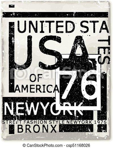 Diseño de tipografía de Nueva York - csp51168026