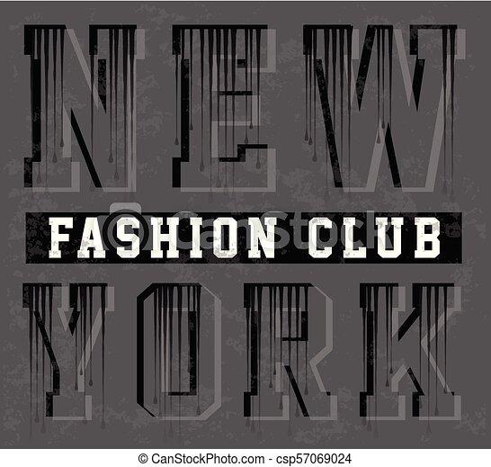 Diseño de tipografía de Nueva York - csp57069024