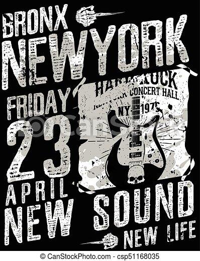 Diseño de tipografía de Nueva York - csp51168035