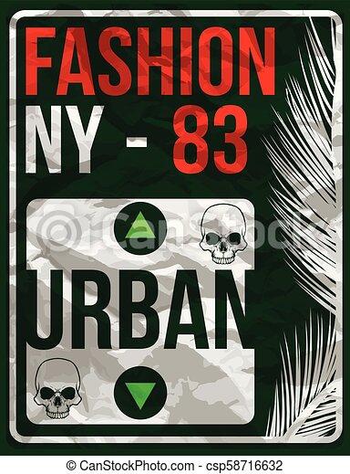 Diseño de tipografía de Nueva York - csp58716632