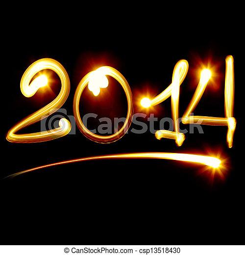 Feliz año nuevo 2014 - csp13518430