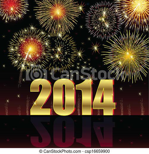 nuevo, feliz, 2014, año - csp16659900