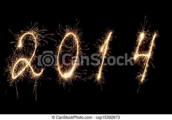 Feliz año nuevo... 2014. - csp15392673