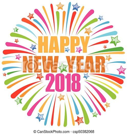 Feliz año nuevo 2018 - csp50382068