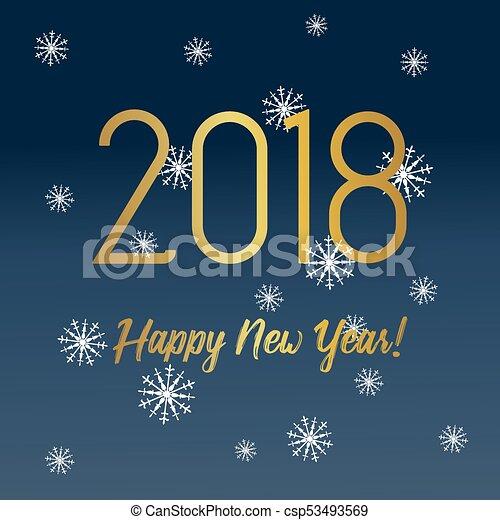 Feliz año nuevo 2018 - csp53493569