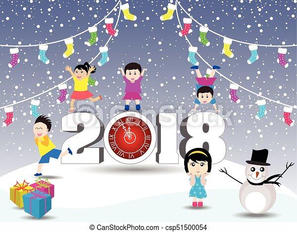 Feliz año nuevo 2018 - csp51500054