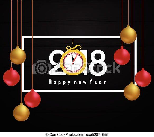 Feliz año nuevo 2018 - csp52071655