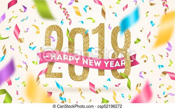 Feliz año nuevo 2018 - csp52196272