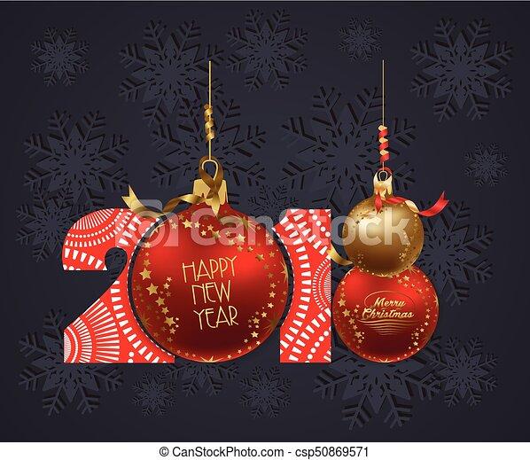 Feliz Año Nuevo 2018 antecedentes - csp50869571