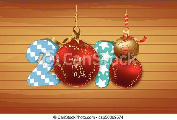 Feliz Año Nuevo 2018 antecedentes - csp50869574