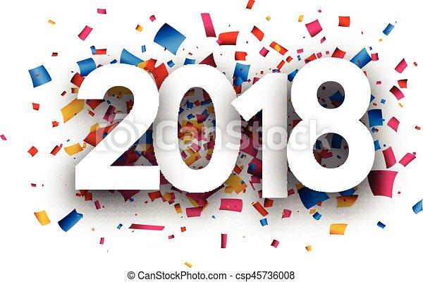 2018 año nuevo antecedentes festivos. - csp45736008