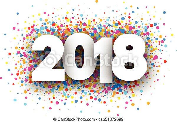 2018 año nuevo antecedentes festivos. - csp51372699