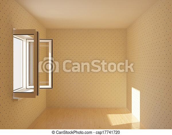 Una nueva habitación vacía - csp17741720