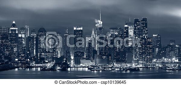 Manhattan, Nueva York. - csp10139645