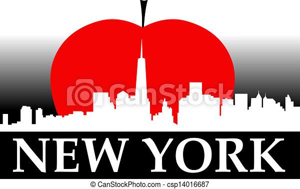 Nueva York Gran Manzana - csp14016687