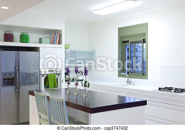 Nueva cocina en un hogar moderno - csp3747432