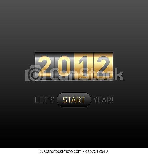 En el mostrador de año nuevo - csp7512940