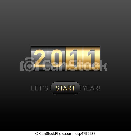 En el mostrador de año nuevo - csp4789537