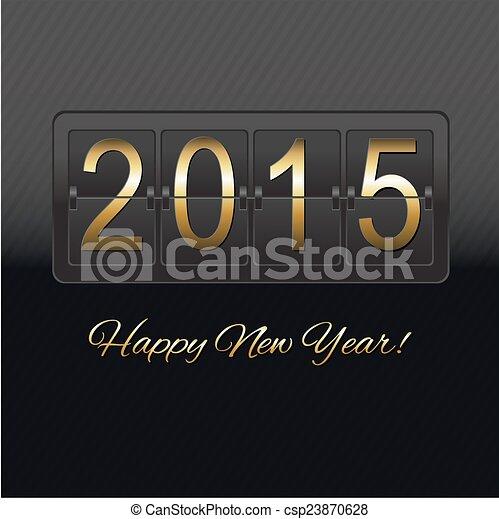 El mostrador negro de Año Nuevo - csp23870628