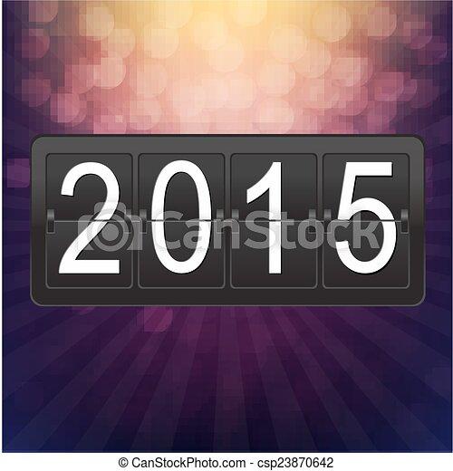 Nuevos años en el mostrador negro - csp23870642