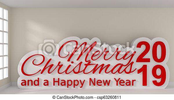 Feliz Navidad y un feliz año nuevo - csp63260811