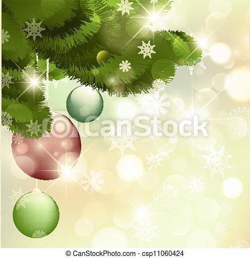 ¡Feliz Navidad y feliz año nuevo! - csp11060424