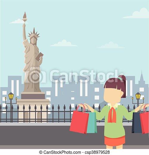Una gira de chicas en Nueva York - csp38979528