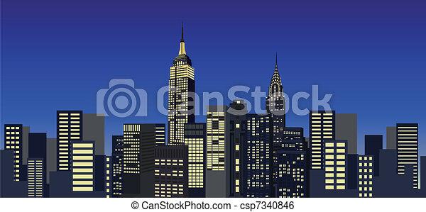 Nueva York rascacielos - csp7340846