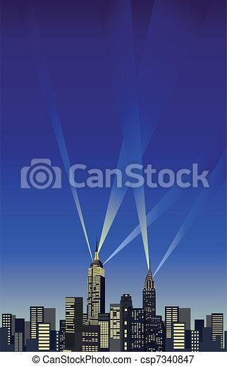 Nueva York rascacielos - csp7340847
