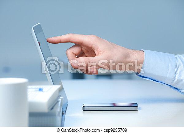 nuevo, tecnologías, lugar de trabajo - csp9235709