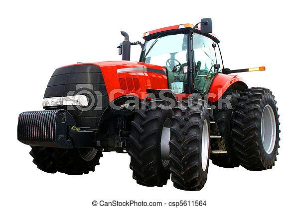 Nuevo tractor rojo - csp5611564