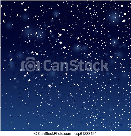nuit, étoiles, sky. - csp61233484