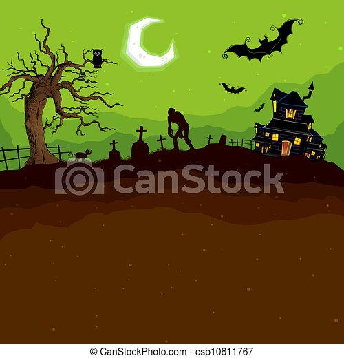 nuit halloween - csp10811767