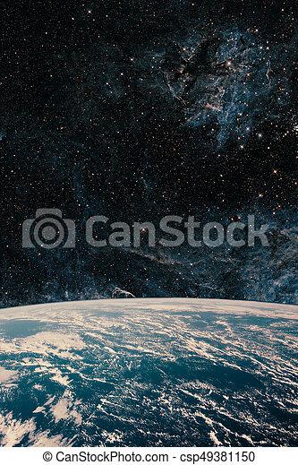 nuit, quelques-uns, nasa., ceci, galaxy., espace, image, eléments terre, ciel, meublé - csp49381150
