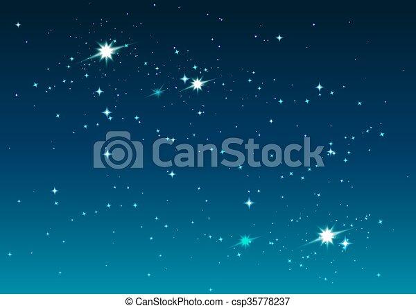 nuit, sky., étoilé, étoiles, espace - csp35778237