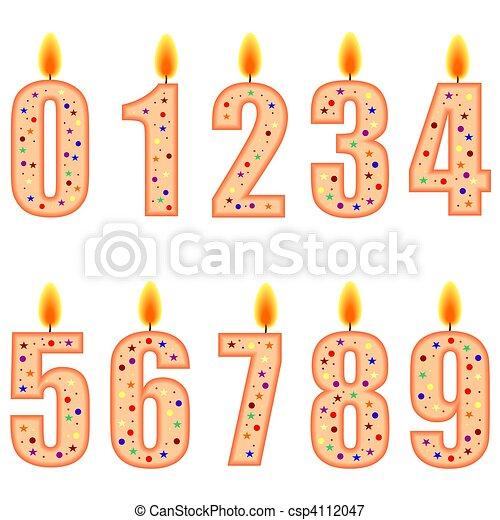 Très Illustrations sous licence de numéroté, bougies, anniversaire  VY62