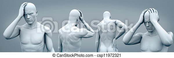 numérique, avoir, body's, maux tête - csp11972321