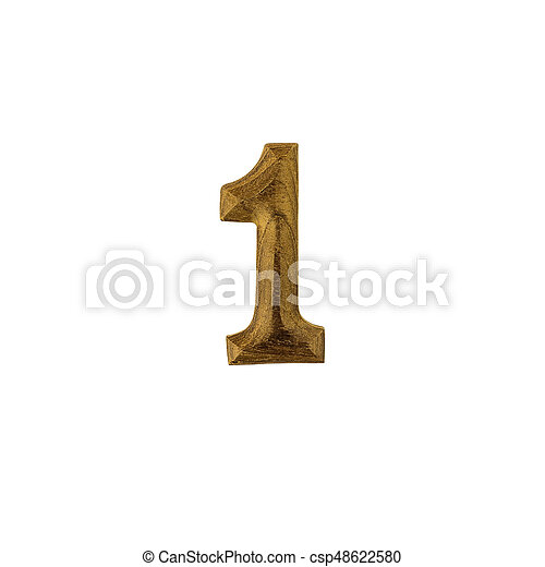 Number 1 made of wood - csp48622580